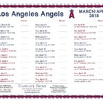 Printable 2018 Los Angeles Angels Schedule