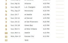 Printable 2018 Los Angeles Rams Football Schedule Los