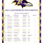 Printable 2020 2021 Baltimore Ravens Schedule