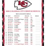 Printable 2020 2021 Kansas City Chiefs Schedule