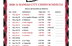 Kc Chiefs Printable Schedule 2021