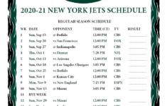 Printable New York Jets Schedule