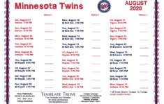 Printable 2020 Minnesota Twins Schedule