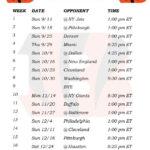 Printable Cincinnati Bengals Schedule 2016 Football