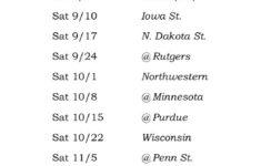 Printable Iowa Hawkeyes Football Schedule 2016 Usc