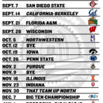 Printable Ohio State Football Schedule 2013 Land Grant