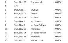 Printable Tennessee Titans Schedule 2015 Football Season