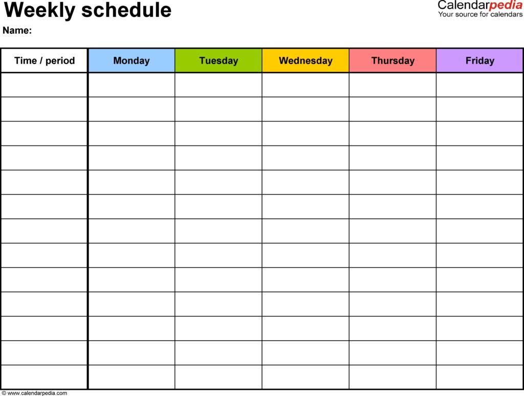 Printable Weekly Planner With Time Slots Calendar