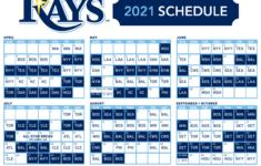 Rays Release 2021 Regular Season Schedule DRaysBay