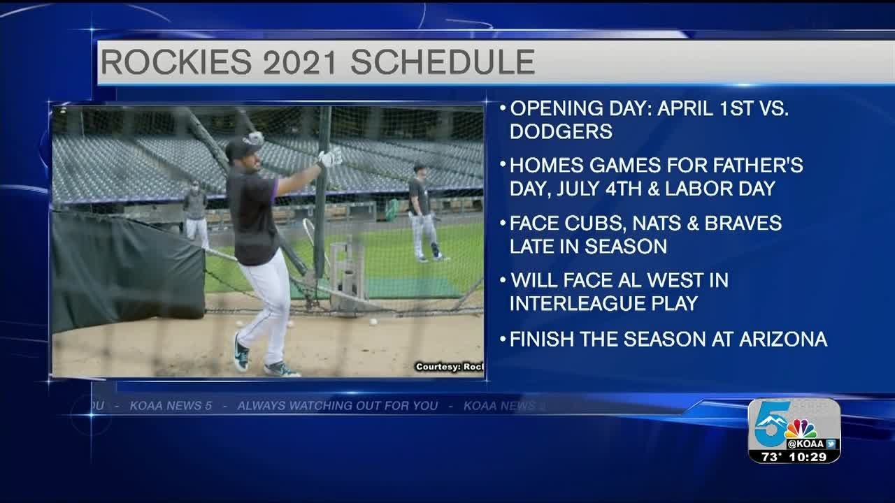 Rockies Announce 2021 Schedule YouTube