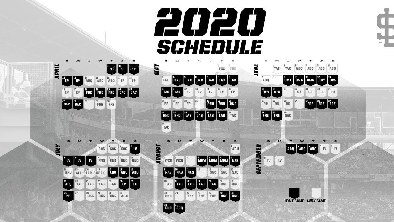 Salt Lake Bees Release 2020 Schedule MiLB