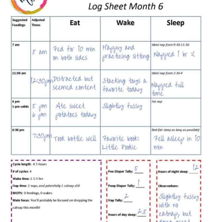 Sample Babywise Schedules Baby Toddler Mama s