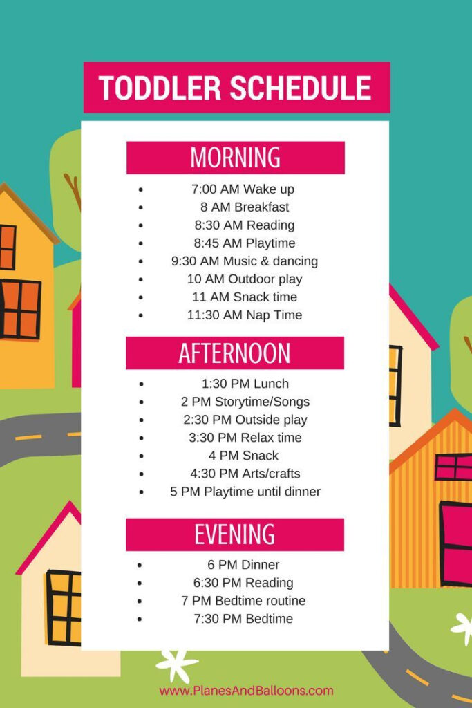 Sample Toddler Schedule A Day In A Life Of An Unplugged