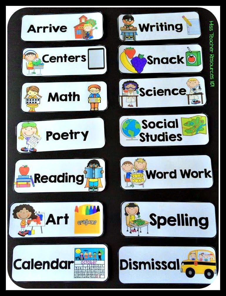 Schedule Cards EDITABLE Freebie Classroom Schedule