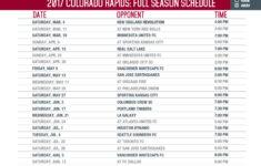Schedule Colorado Rapids