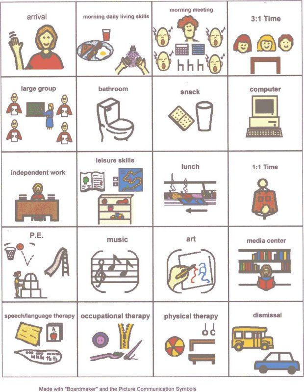 School Picture Schedule Visual Schedule Autism Visual