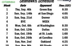 Seahawks Schedule Seattle Seahawks Schedule
