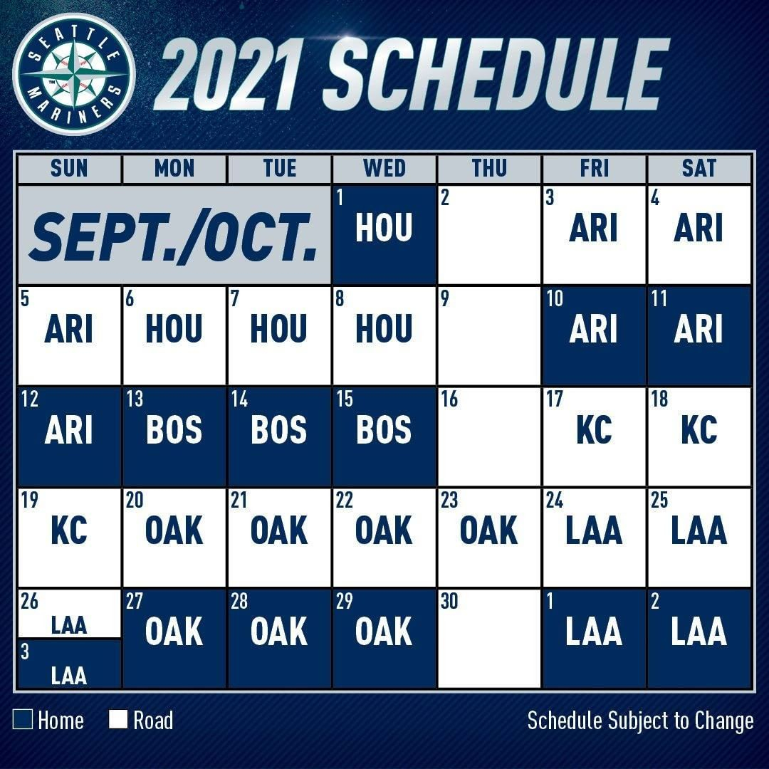 Seattle Mariners The 2021 Mariners Schedule Is Here
