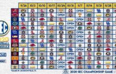 SEC Announces New 2020 Football Schedule