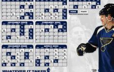 St Louis Blues Printable Schedule