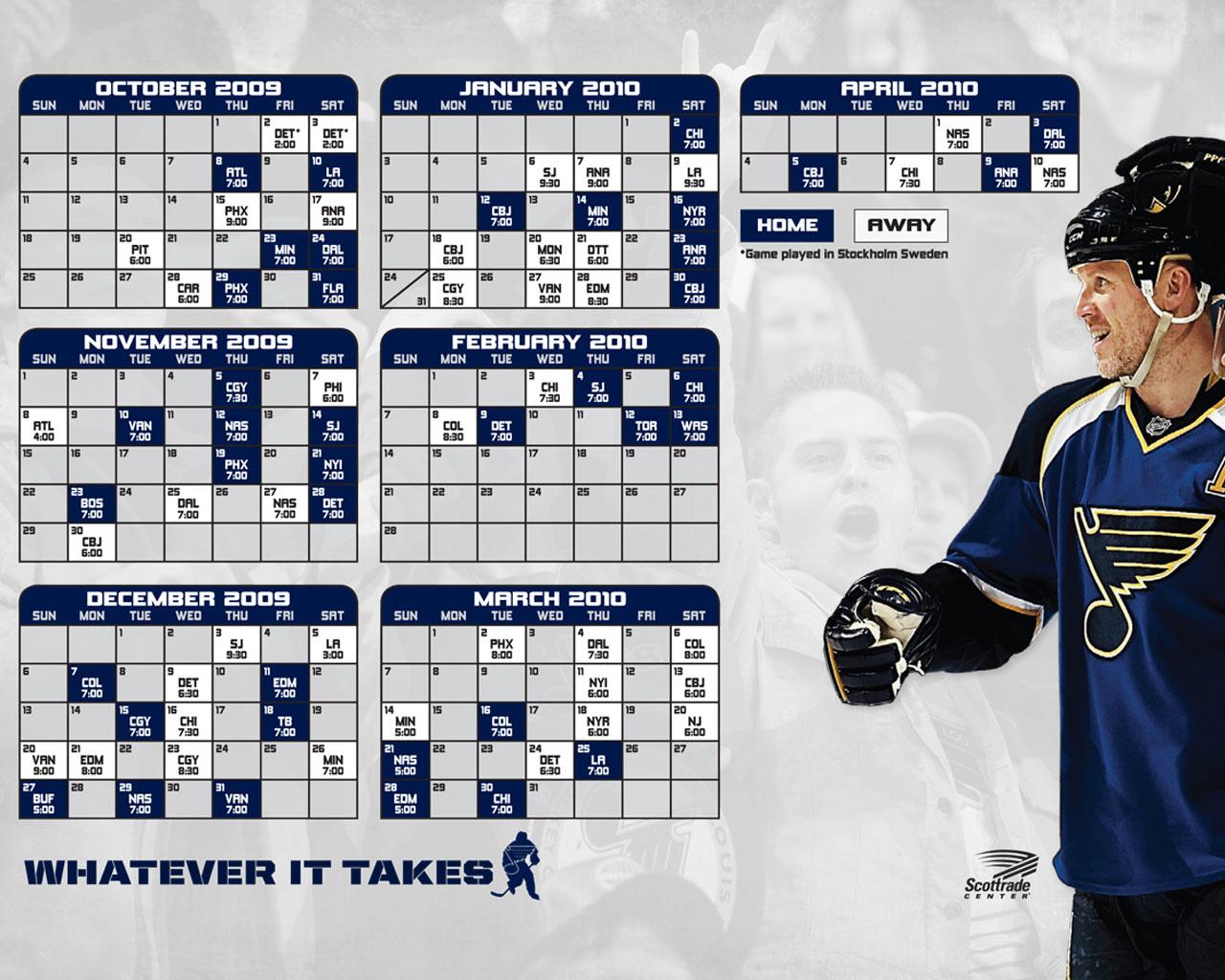 St Louis Blues Schedule Wallpaper WallpaperSafari