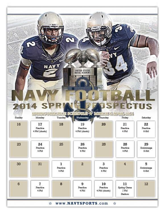 The 2014 Navy Football Spring Schedule Navy Football