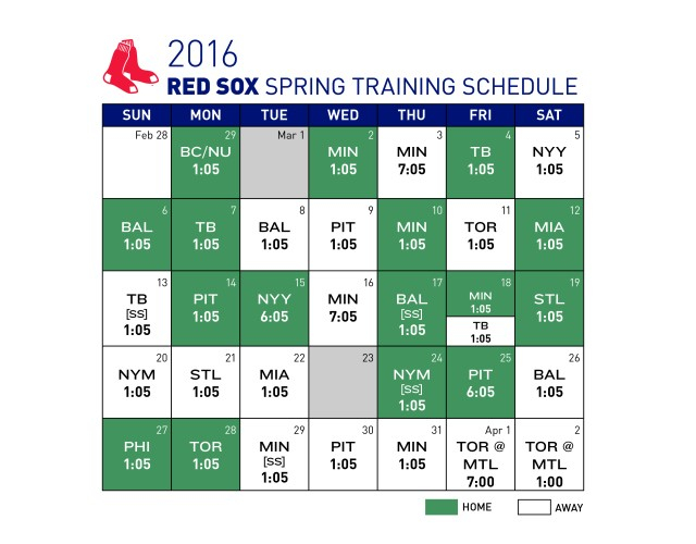 The 2016 Yankees Spring Training Schedule Has Been Released