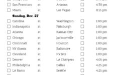 The Best Nfl Schedule Week 16 Printable Derrick Website