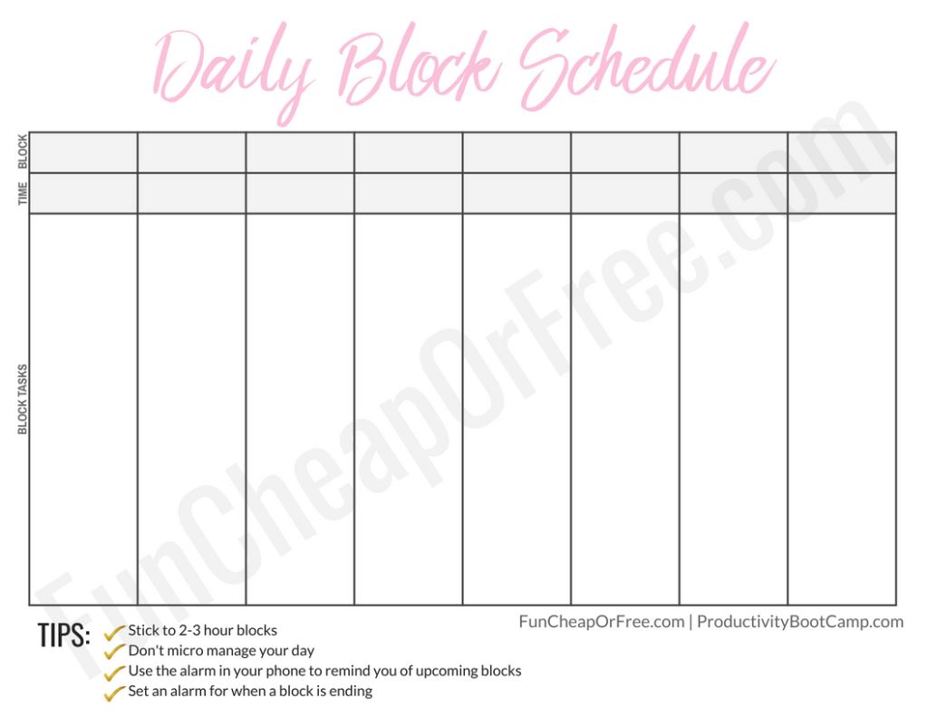 The Block Schedule System And What It Is Block