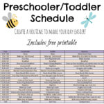 Toddler And Preschooler Daily Schedule Tales Of Beauty