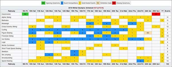 Tokyo 2020 Schedule Calendars 2021