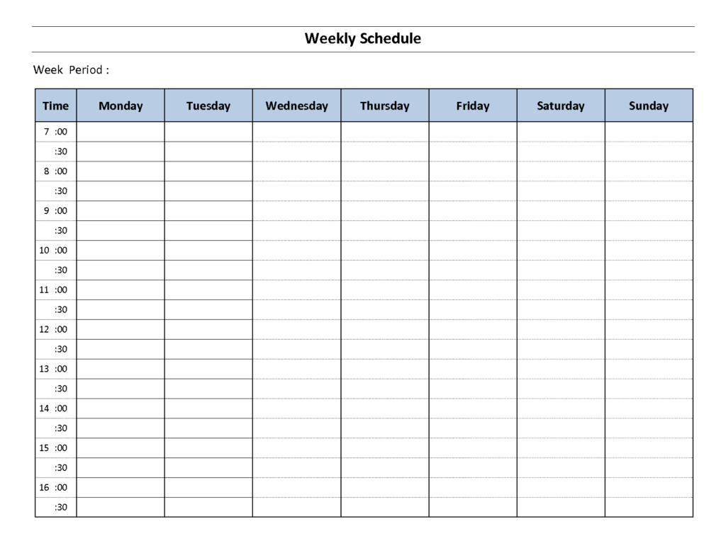 Top 5 Resources To Get Free Weekly Schedule Templates