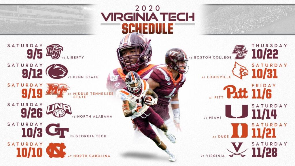 Virginia Tech Academic Calendar 2020 2021 Printable
