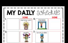 Visual Classroom Schedules Editable Classroom Schedule