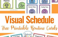 Visual Schedule Free Printable Routine Cards Visual