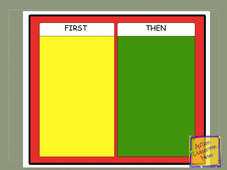 Visual Schedule Series First Then Schedules Freebie