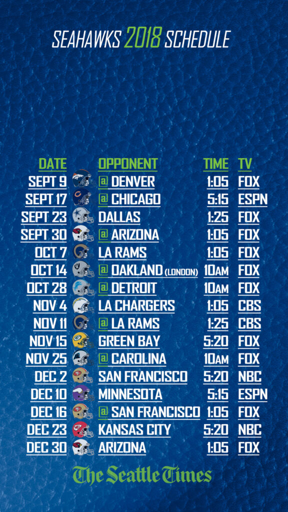 Want The Seahawks Schedule On Your Phone Get Your Lock
