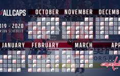 Washington Capitals Release 2019 2020 Schedule