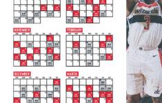 Washington Wizards Printable Schedule