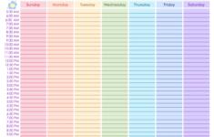 Weekly Schedule Free Printable Weekly Schedule