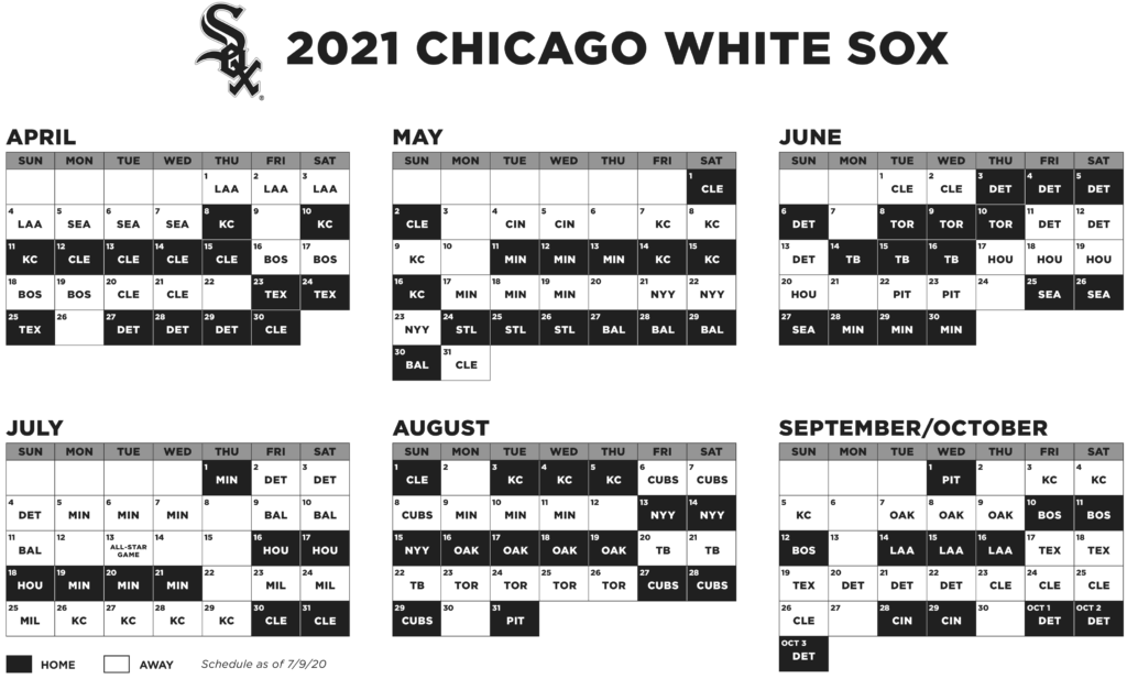 White Sox Announce 2021 Regular Season Schedule By