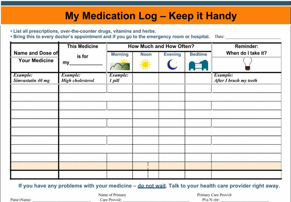 10 Best Free Printable Medication Schedule Printablee