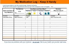 Free Printable Medicine Schedule