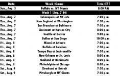 2014 NFL Preseason Schedule NFL Preseason Schedule 2014