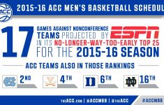 2015 2016 ACC Men S Basketball Schedule Carolina Blitz