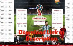 2018 World Cup Printable Schedule And Wall Chart Eastern