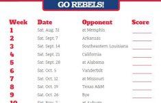 2019 Printable Mississippi Rebels Football Schedule