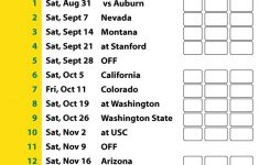 2019 Printable Oregon Football Schedule Oregon Ducks