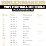 2019 Purdue Boilermakers Football Schedule Purdue