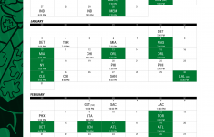 Boston Celtics Schedule 2021 19 Printable